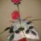 Rózsák és kálák csokorban
