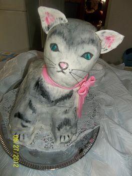 3D cica torta Kamillának