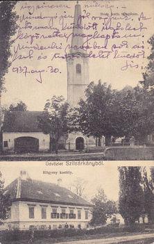 A katolikus templom és a Hőgyészy kastély. 1937