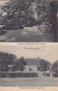 A Potyondy (később Vaszary) kastély parkja 1904-ben