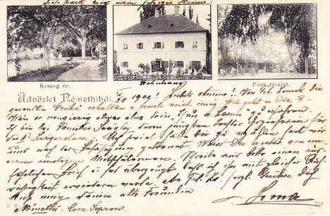 Üdvözlő képeslap Sopronnémetiből 1902-ben.