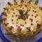 Sütés nélküli rizses ribizlis torta