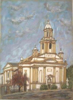 Kapuvár, Szt. Anna templom, pasztell
