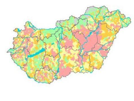 paralgfű térkép magyarország