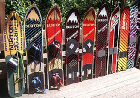 Burton boardok az 1980-as évekből