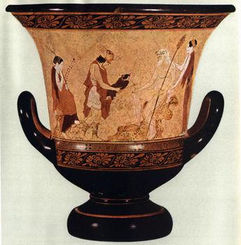 Hermész és a gyermek Dionysos