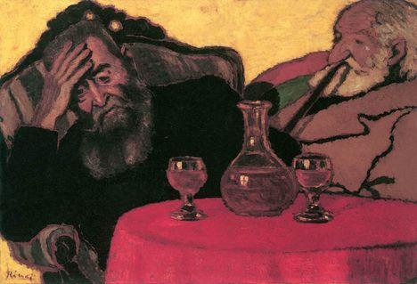 Rippl-Rónai József, Apám és Piacsek bácsi vörös bor mellett