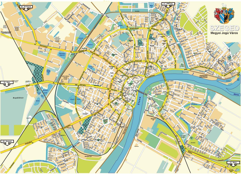térkép szeged Szeged: Szeged térkép (kép) térkép szeged