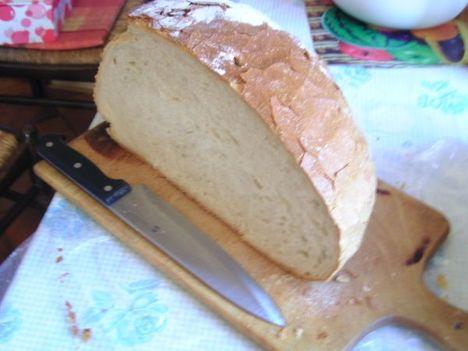 Új kenyér félbevágva 2