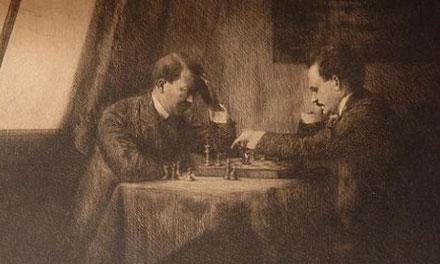Hitler és Lenin sakkozik