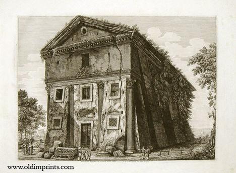 L_Rossini-  Veduta dell'Antico Tempio