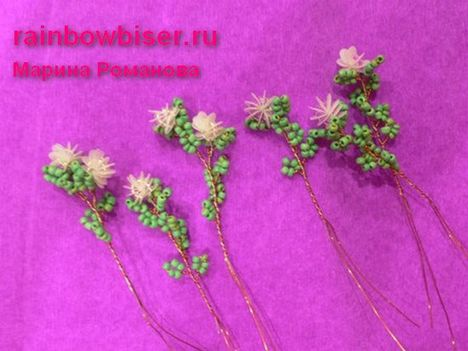 gyöngy virág csokor mintája lépésről- lépésre 15