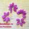 gyöngy virág csokor mintája lépésről- lépésre 4