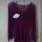 Bordó női  csipke pulcsi