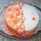 Két színű virágos torta