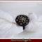 Fekete gomb gyűrű