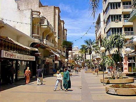 afrika, casablanca, marokkó 5 Bevásárló utca