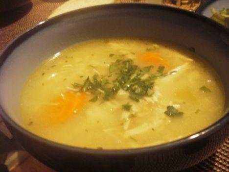 csirkész üvegtészta leves