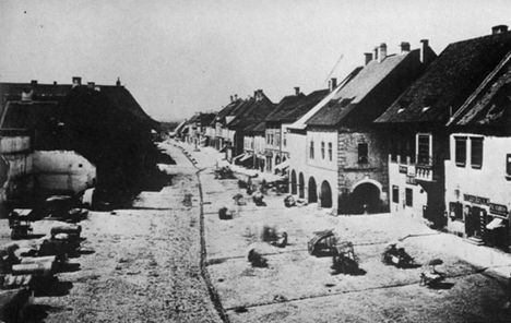 főtér északi oldala 1860
