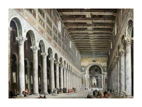 Giovanni Paolo Panini - Interior of San Paolo Fuore Le Mure, Rome