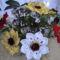 Horgolt  szines virágok