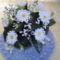 Horgolt fehér virág