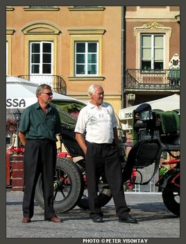 Carriage drivers of Warsaw's old town