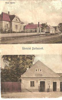 Régi képeslap Barbacsról