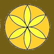 Ez egységet, a teljességet jelképező hatszirmú virág