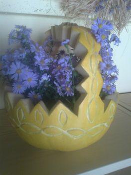 virágkosár -tökből