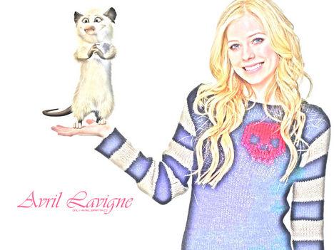 Avril Lavigne háttér rajzolt
