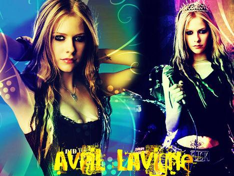 Avril Lavignés háttér naon jó!
