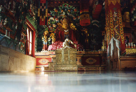 Bhutani templomban - Bodh Gaya