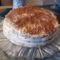 Csíkos süti tortaformában