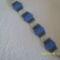 Kék peyote karkötő
