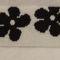 Kis fekete virágos peyote