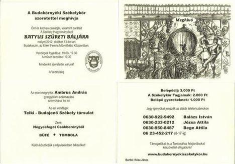 A BUDAKÖRNYÉKI SZÉKELY KÖR - BATYÚS BÁLAJA 2012