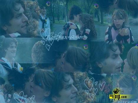 Flor és Maximó csókólózik