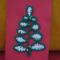 karácsonyi üdvözlőlap zsinorhorgolással diszitv