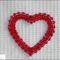 Piros szívecske