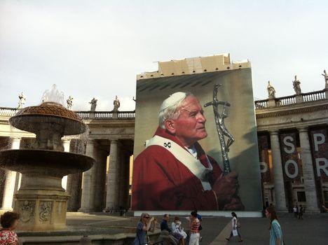 A boldog pápa a Szent Péter téren