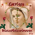 Október rózsafüzér-Szűz Mária hónapja