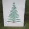 fonalgrafikás karácsonyi üdvözlőlap