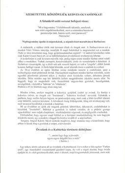 Barbacsi Hírmondó 6.szám, 1999.Nyár, 1.oldal