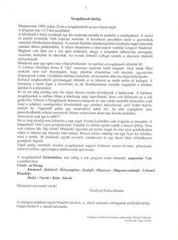 Barbacsi Hírmondó 6.szám, 1999.Nyár, 5.oldal