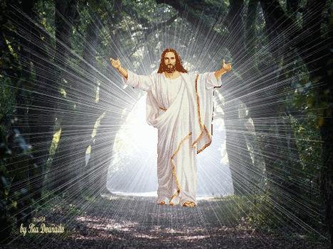 Jézus+áld+fényben