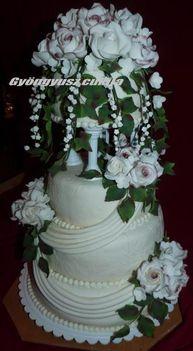 Bea lányom esküvői tortája 5