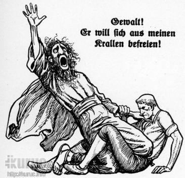 Antiszemitizmus! Menekülni akar a zsidó karmai közül