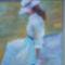 Hölgy fehérben - pasztell