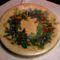decoupage - karácsonyi tányér